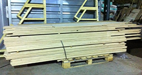 Oak flooring ready for supply